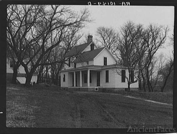 Farmhouse on the heavily mortgaged farm of Theodore F....