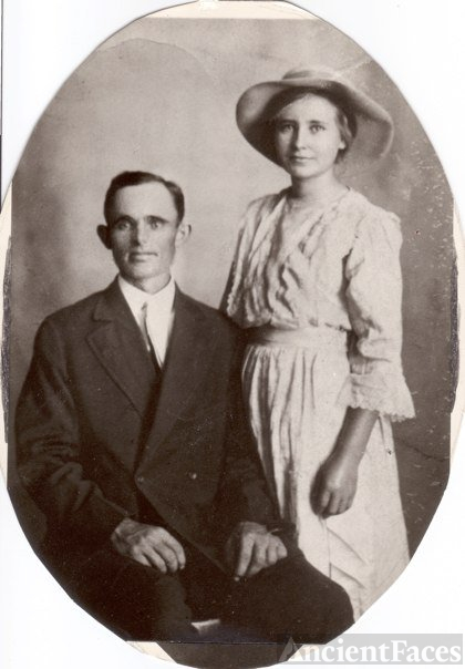Wedding Photo of Archie O. Tucker and Ethel Sara Ann Stogsdale