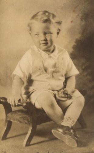 2 year old Edward Cecil Barnard