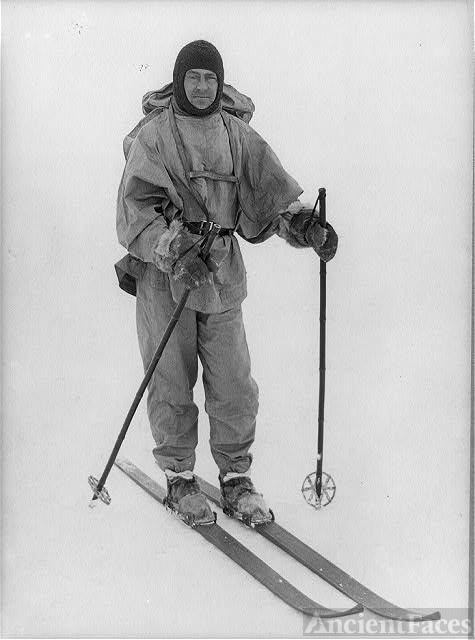 Captain Robert F. Scott on skis / H.G.P.