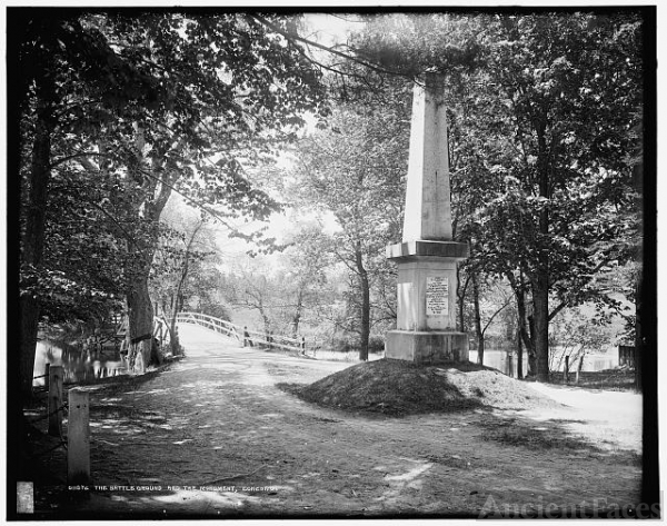 The Battleground and the monument, Concord