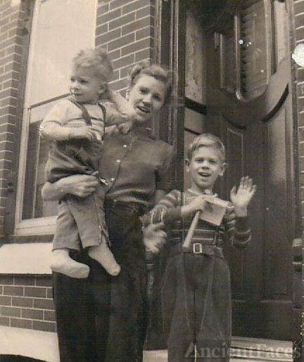Eleanor M, Robert, and Raymond Snock, 1953