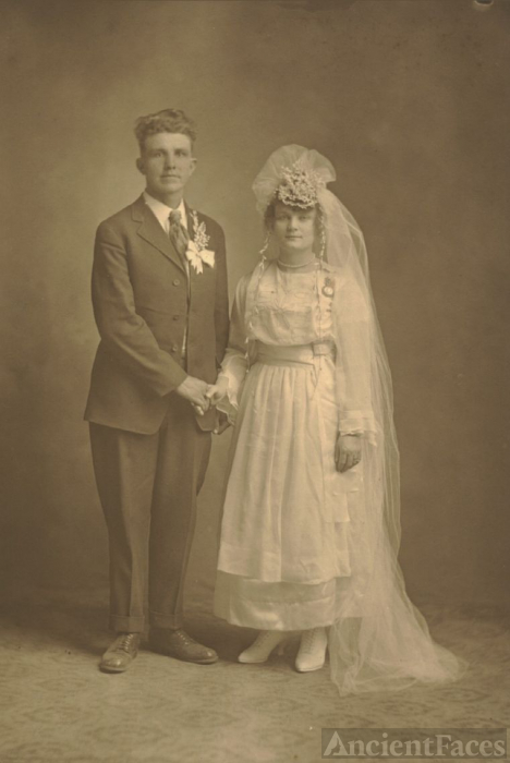 Wedding of Bertha Hoppe & Arthur Schroeder