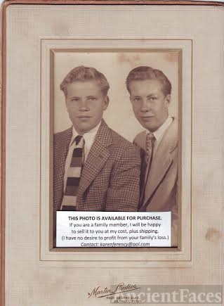 Unknown young men, c 1945