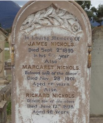 Margaret, James, and Richard Nichols Grave