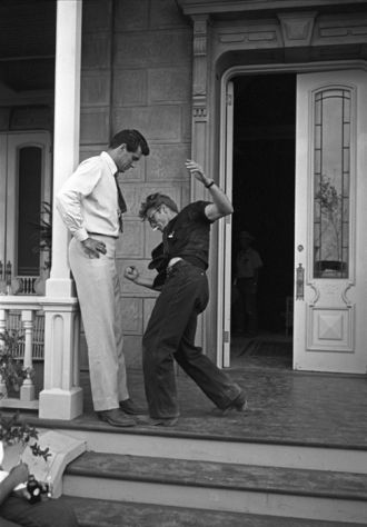 Rock Hudson and James Dean 1956