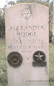 Alexander Hodge Tx Militia, Revolutionary War