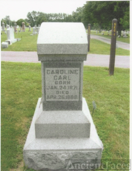 The Tombstone of Caroline Carl (24 January 1871-25 April 1888)
