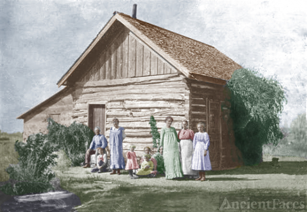 Amos Moses Virgin Family Home-Colorized