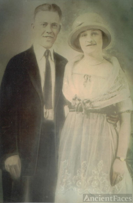 John J & Mary (Hutchings) Costello, Indiana 1921