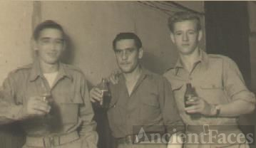 Three Army Buddies enjoying a beer