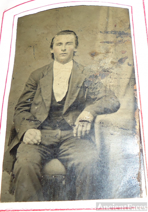 Tintype of an unknown man
