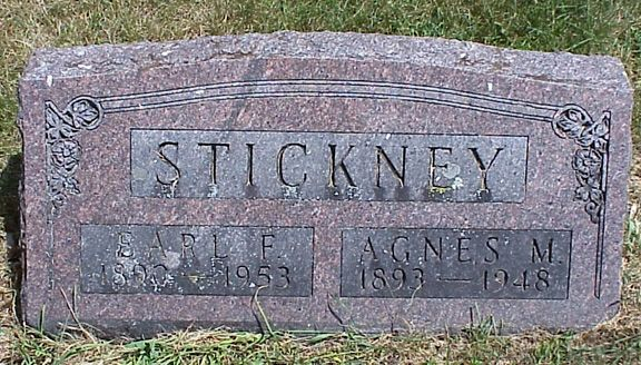 tombstone--Carl Stickney