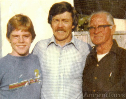Stewart Timothy Williams (1966- ), Leighton Lee Williams Jr. (1935- ), and Leighton Lee Williams Sr. (1906-1992) Circa 1977