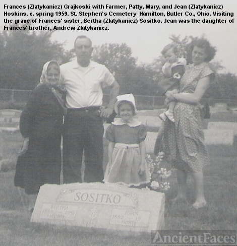 Family at Bertha Sositko's Grave