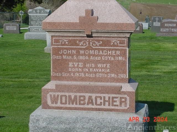 John Wombacher and Eva Valentine Michel's Grave