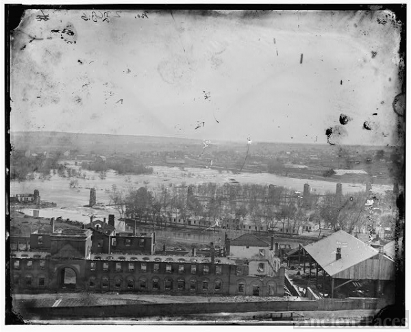 Richmond, Virginia. Ruins of State Arsenal and Richmond &...