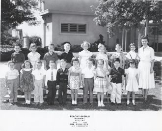 Beachy Avenue School CA, 1960