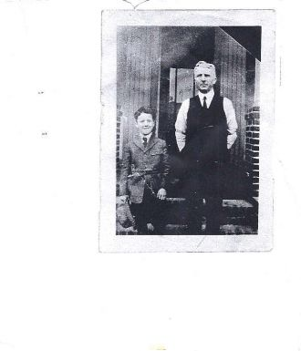 Grandfather Neher and Grandson Howard Fuess