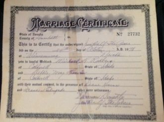 Debbie May Lewis marriage certificate