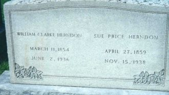 William & Sue Herndon Headstone; Frankfort, KY