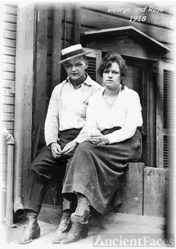 George & Rose Mock c1918 West Virginia