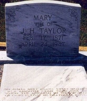 Grave of Mary Ellen Taylor