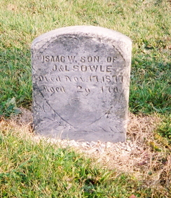 Isaac W. Sowle gravestone