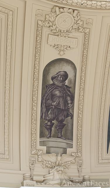 "Fresco painting ""Explorer Hudson"" located in rotunda of..."