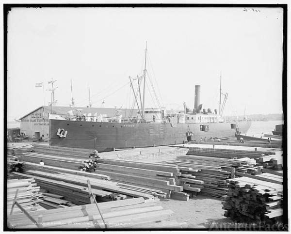S.S. Huron, Clyde Line, at Jacksonville, Fla.