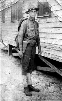 H.V.Wheeler in camp WWI