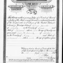 Mary (Elwell) and George Landis Marriage License