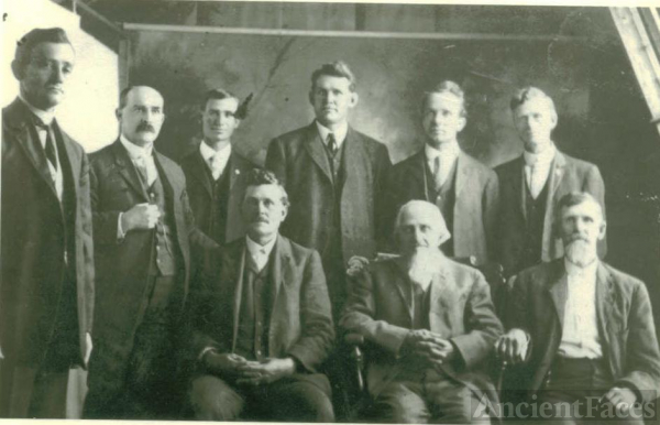 9 men of the Gray family, Tabor, Fremont, Iowa