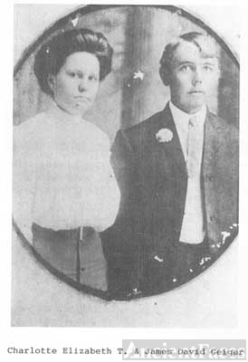 Charlotte Elizabeth (Lottie) Turkett & James Derrick Geiger