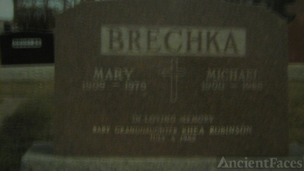 Mary & Michael Brechka headstone