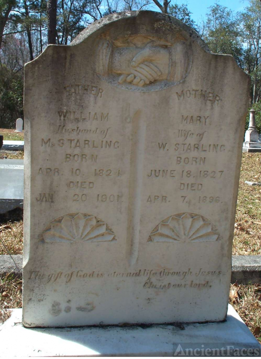 William and Mary Cowart Starling Grave