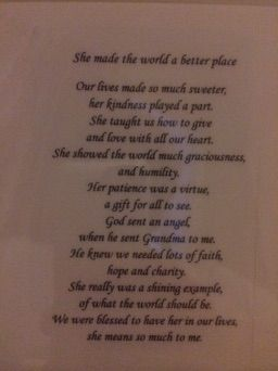 Poem for Grandma Marie Gugel