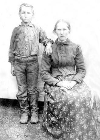 Elizabeth Jane Burke and her son Samuel Henry Harrison Cook