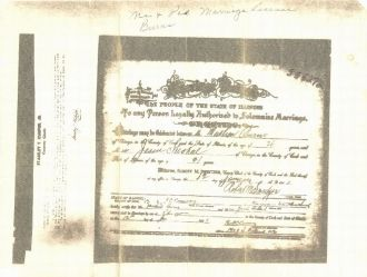 Jesse Strokal and Mathew Burns marriage cert