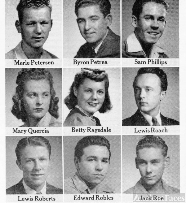 Merle Peterson 1942 CA  Seniors at Fresno Tech