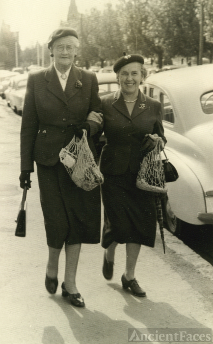 Audrey Carnegie and Betty Nicholls, 1957