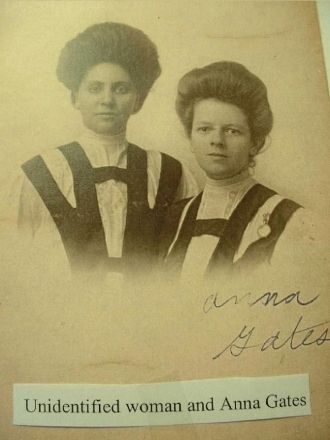 Unidentified and Anna Gates