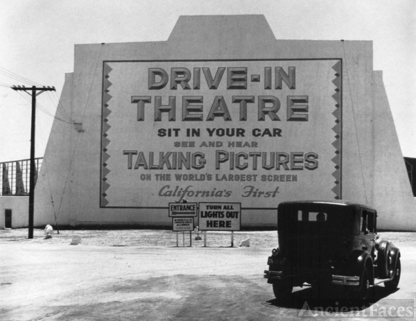 First drive-in theater