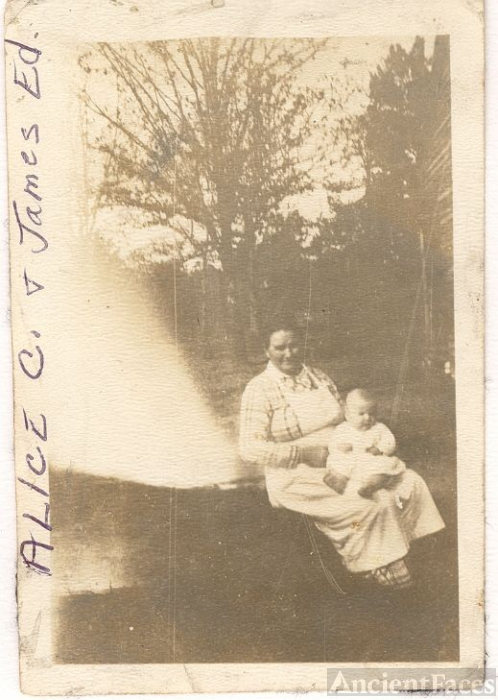Alice V. Spruiell Clinkscales & son, James Edward