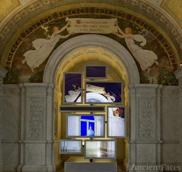 [North Corridor, First Floor. Mural by Charles Sprague...