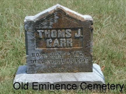 Headstone for Thomas Carr