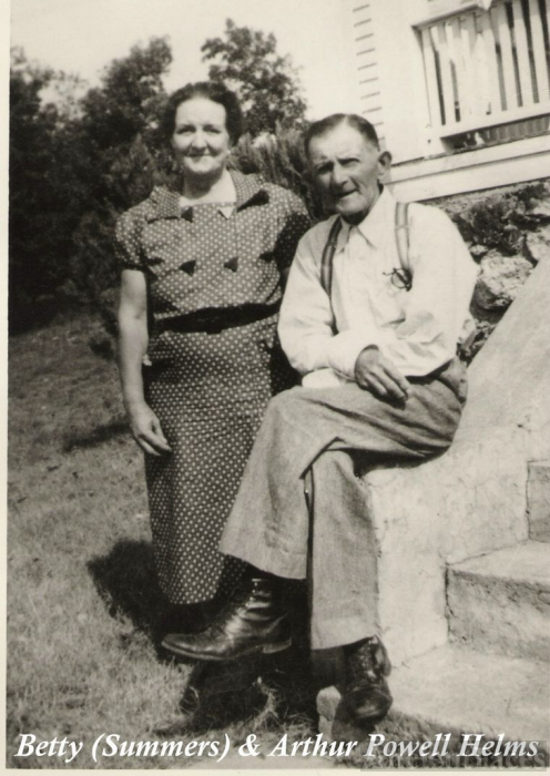 Betty (Summers) and Arthur Powell Helms.