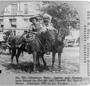 Cheyenne, Wyo.--Indian and cowboy have buried the hatchet...