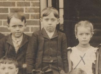 Lester, Howard, and Mary Eakin, schoolchildren