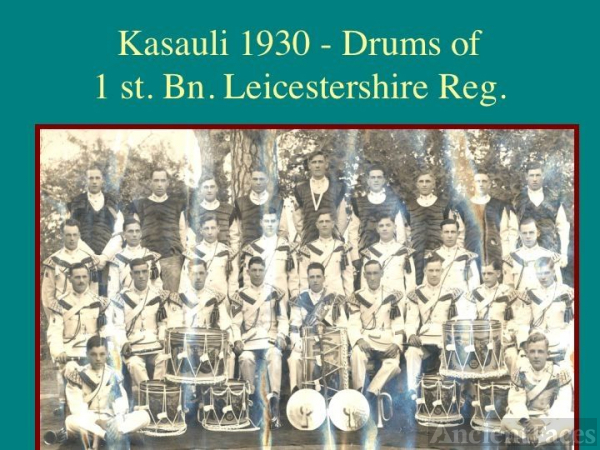 Drums of 1 st. Bn. Leicestershire Regt - Kasauli
